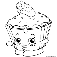Exclusive Colouring Pages Cupcake Chic Shopkins Season 2 Coloring Printable And Book To Print For Free Find More Online