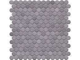 Iridescent Mosaic Tiles Uk by Loop Diamond Grey Circular Mosaic