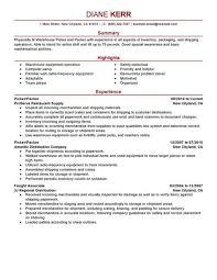 Picker Packer Resume Warehouse Order Pdf For Ideas