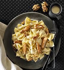 farfalles au poulet noix et gorgonzola panzani recette pates