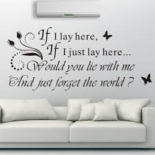 Romantic Love Messages Wall Decals Quotes Headboard For Bedroom Decoration If I Lay Here Would You Lie With Me ZY8214 In Stickers From Home Garden On