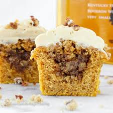 Pumpkin Pie With Pecan Praline Topping by Pumpkin Pecan Pie Cupcakes Bourbon Brown Sugar Frosting