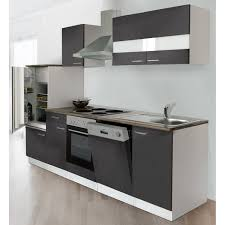 respekta küchenzeile ohne e geräte lbkb280wg 280 cm grau weiß glänzend