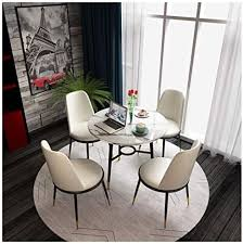 de hemfv esstisch und 4 stühle modern marble runde
