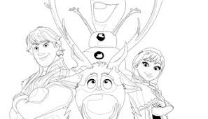 Frozen Coloring Pages On Crafty Guild