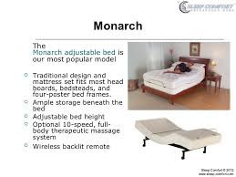 adjustable bed models from sleep comfort