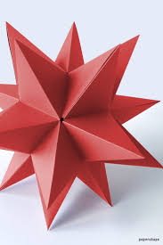 Step By How To Make A Huge 3d Star From Paper For Christmas