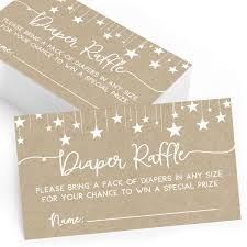 Diaper Raffle Cards For Baby Shower Set Of 25 Raffle Tickets And Insert Cards Baby Shower