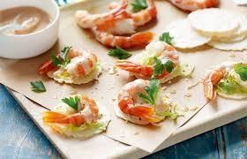 canapes apero recettes apero dinatoire facile canapés avocats et crevettes et