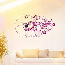 details zu wandtattoo uhr blumen ranke wanduhr floral design schöne deko idee wohnzimmer