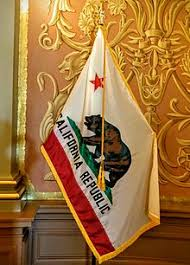 The Flag Of California On Display At State Capitol