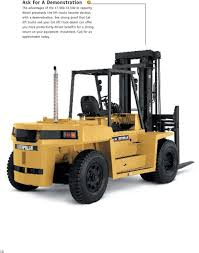 100 Cat Lift Trucks 1750033000 Lb Capacity Diesel Pneumatic Tire