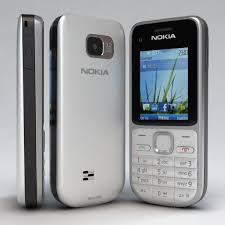 3D Nokia C2 01 White Silver Cell Phone Model 3D Model 3D Modeling Pinterest