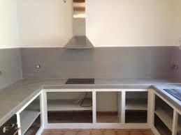 cuisine alu cuisine modernisée en gris blb carrelage