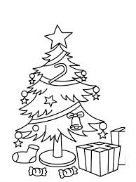 Christmas Tree Coloring Pages With Gifts For Children 74761