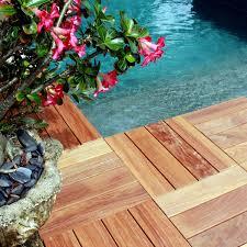 Kon Tiki Wood Deck Tiles by Flexdeck Diy Hardwood Deck Tiles 18x18