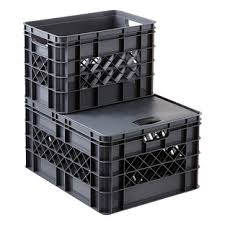 Grey Modular Stackable Crates