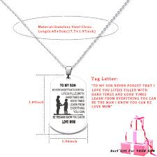 Amazoncom Danjie To My Son Tag Stainless Steel Pendant Always
