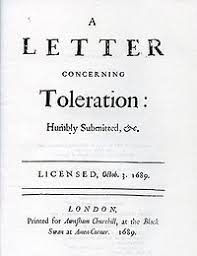 Title Page Of The First Edition A Letter Concerning Toleration