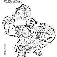 Skylanders SWAP FORCE Coloring Pages Blast Zone Page Zoo Lou