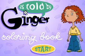 As Told By Ginger Coloring Book Game