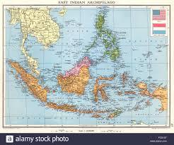 INDONESIA East Indian Archipelago Dutch Indies Sarawak Sabah 1938 Map