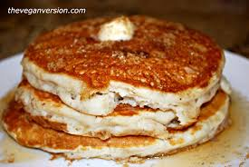 Vegan Bisquick Pumpkin Pancakes by The Vegan Version Easy Vegan Pancakes