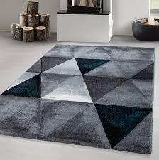 sale teppich moda flachflor design modern dreiecke meliert