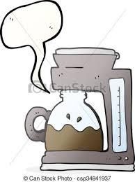 Speech Bubble Cartoon Coffee Filter Machine