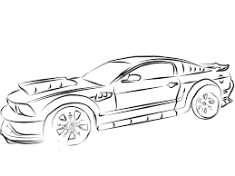 Mustang Coloring Pages Awing Cars Kids