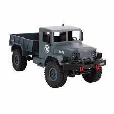 100 Off Road Remote Control Trucks WPL 4WD 24G Truck Scale 116 RC Crawler Military