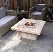 feuertisch holz lounge modell quadratisch terras co
