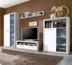 gutes discount moderne wohnwand beton weiß hochglanz b h t