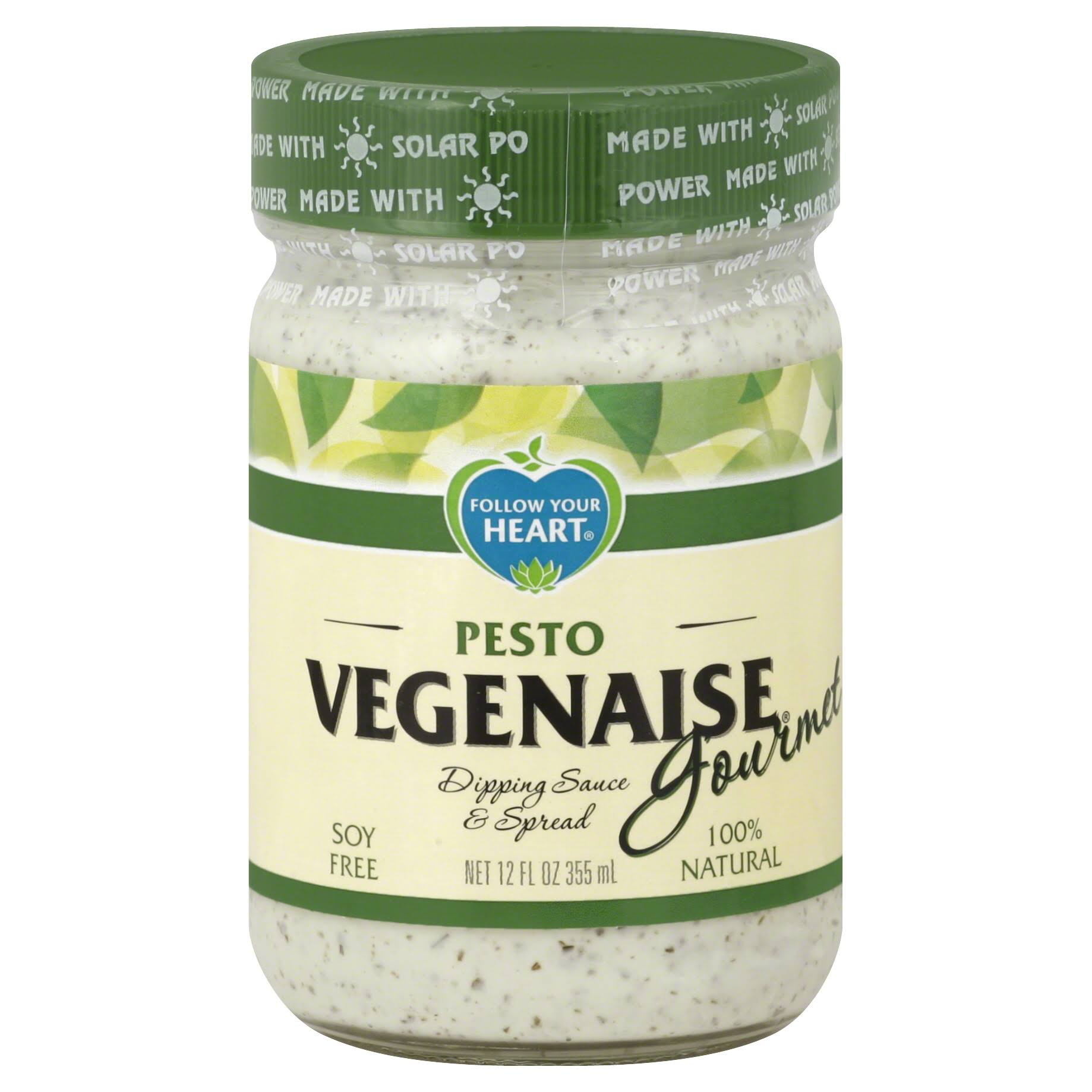 Follow Your Heart Vegenaise Gourmet Dipping Sauce & Spread, Pesto - 12 fl oz
