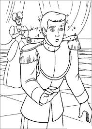 Prince Charming Chase Cinderella Coloring Pages For Kids Printable Donald Duck Daisy