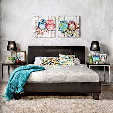 Sears Headboards And Footboards Queen by Furniture Of America Adrano Espresso Leatherette Platform Bed