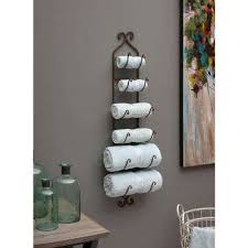 Rustic Towel Wine Rack Brown And Quilt