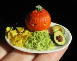Pumpkin Guacamole Throw Up Cheese by Handmade Dollhouse Miniatures And Food Jewelry By Minithaiss