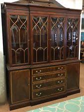 Henredon Walnut China Cabinet by Walnut China Cabinets Ebay