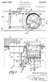 Raymond Wilsons Dish Washing Machine Patent 1943