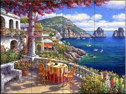 tuscan wall tiles wall tile mural waterview tile