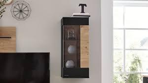 interliving wohnzimmer serie 2104 hängevitrine anthrazitfarbene lackoberflächen balkeneiche eine tür