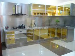 Stainless Metal Kitchen Cabinets 2016 Steel In Cabinet