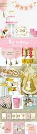 Pink And Gold Birthday Themes by Pink And Gold Birthday Decorations Pink And Gold First