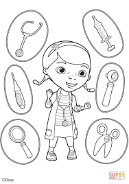 Doc McStuffins Coloring Pages Mcstuffins Tools Page Free Printable Picture