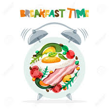 Breakfast Menu Vector Design Fried Eggs Bacon Avocado Tomato Seasoning On