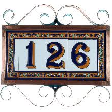 Mexican Tile House Numbers With Frame by House Number Frames Tierrafina Com