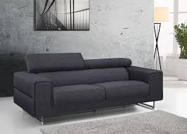 canapé 3 places gris canapé design gris chablis en tissu fixe 3 places avec tétières