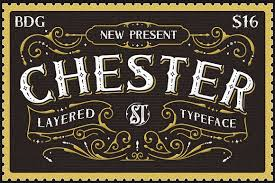 Introducing New Layered Font Family Its Call Chester Inspired From Combine Old Postcard Stamp And Rustic Sign Painting With Have Unique Decorative Shape