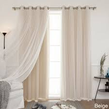 Sheer Curtain Panels With Grommets by Aurora Home Mix U0026 Match Curtains Blackout Tulle Lace Sheer Bronze